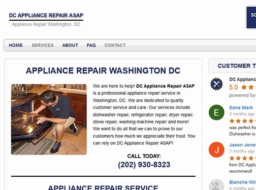 https://www.dcappliancerepairco.com/ website